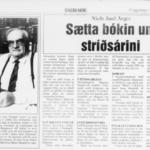 Dagblaðið 30. okt. 1990: Sætta bókin um stríðsárini