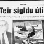 """Dagblaðið 9. des. 1991: """"Teir sigldu úti""""!"""